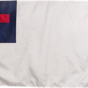 Nylon Christian Flag Made in USA