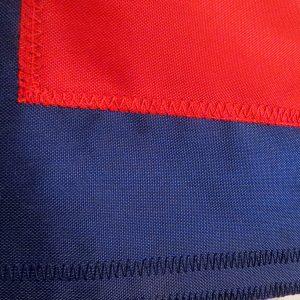 Nylon Christian Flag: Appliqued