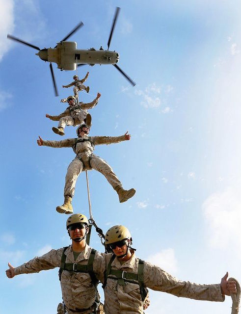 Aerial picture of Marines